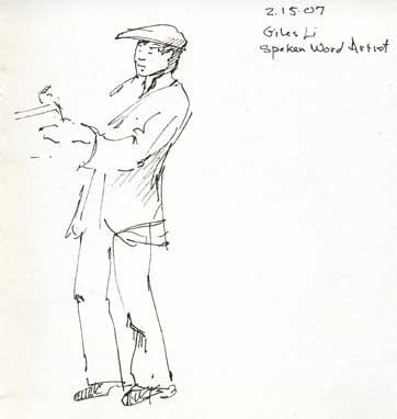 Giles Li Spoken word artist