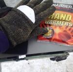 Keeping hands warm
